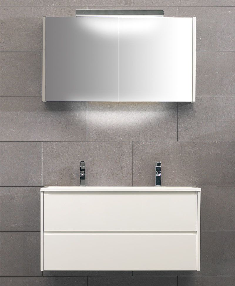 THEBALUX Design Badmöbel Set »BEAT« in Hochglanz weiss Jetzt - badezimmermöbel weiß hochglanz