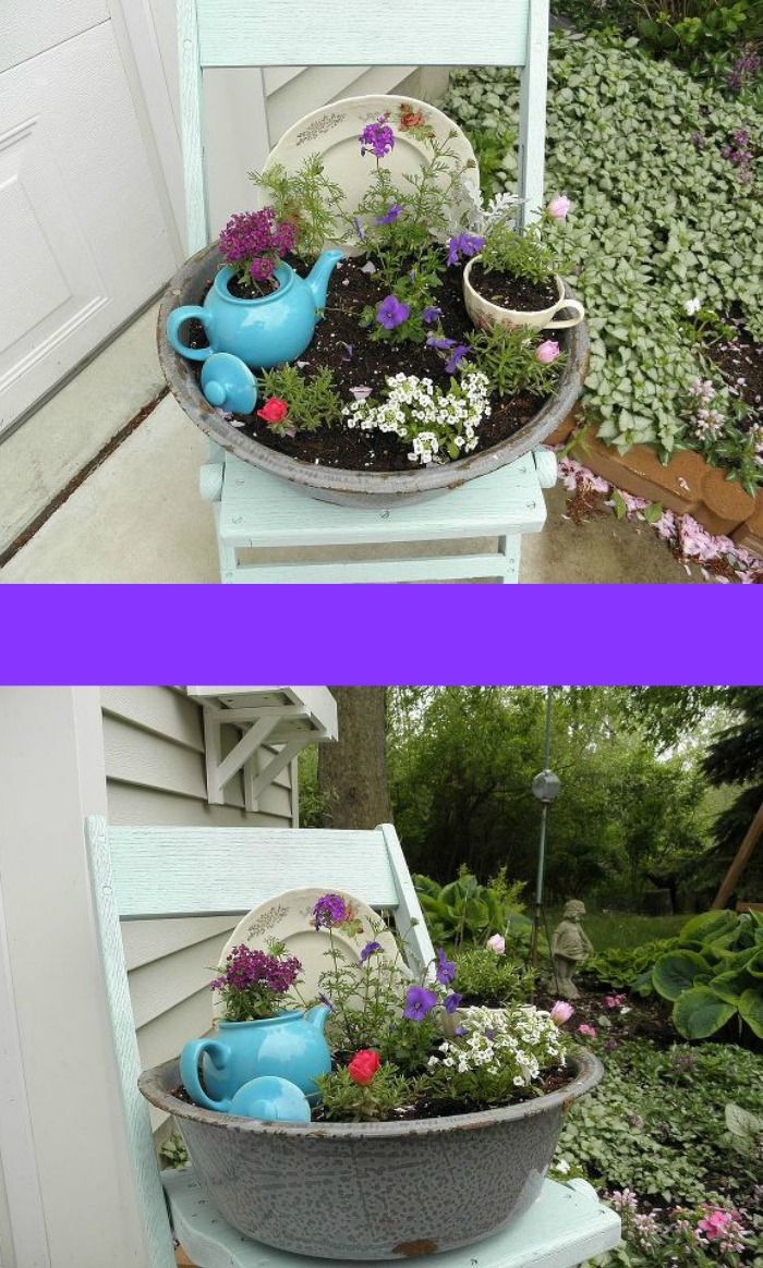 Mini garden  using found items ~ so pretty!