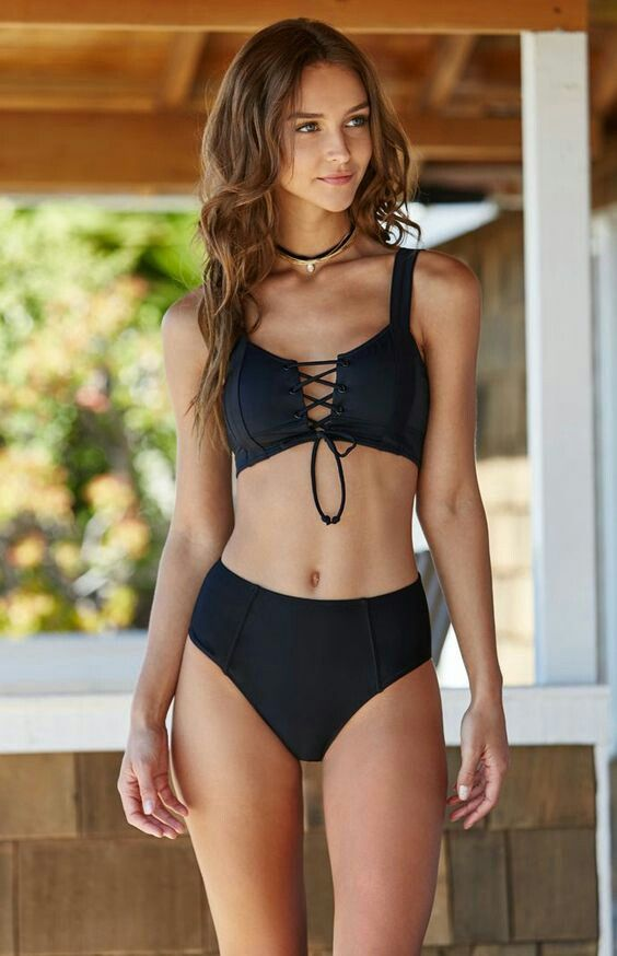 ff0e4dbe32 Black 2-piece Bathing Suits For Teens, Swimsuits For Teens, Pacsun Bathing  Suits