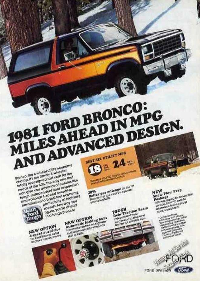 Ford Bronco Ad Ford Bronco Bronco Ford Pickup