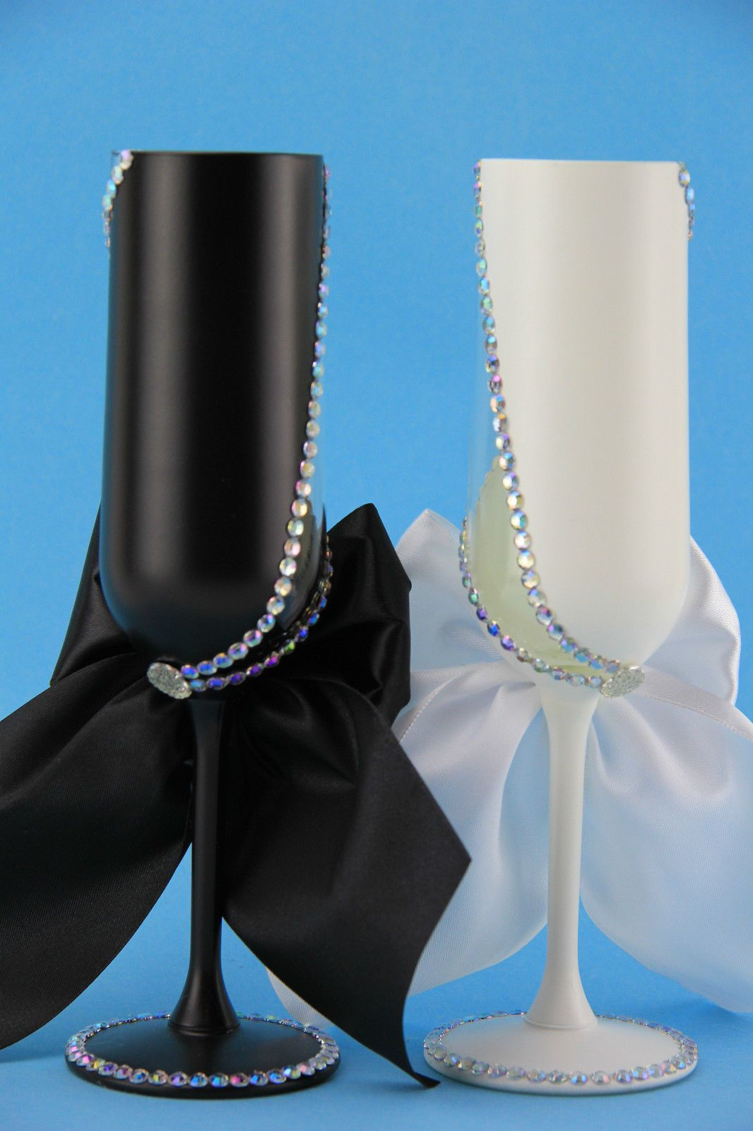 Hochzeitsglaser Sektglaser Hochzeitsgeschenk Handarbeitnr 1 Ebay