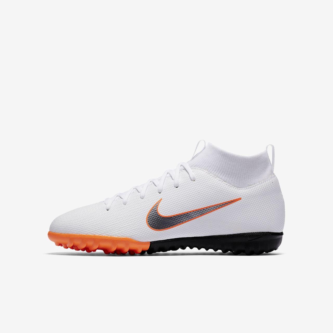 watch 61d14 2f9f0 Nike Jr. Mercurialx Superfly VI Academy Just Do It Little/Big Kids' Turf  Soccer Shoe - 1.5Y Grey