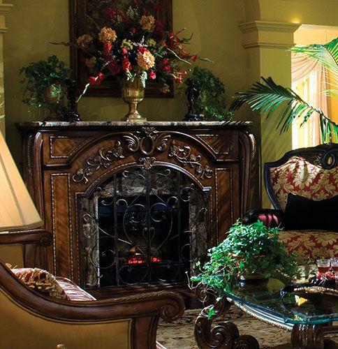 fireplaces michael amini furniture designs aminicom - Michael Amini Furniture