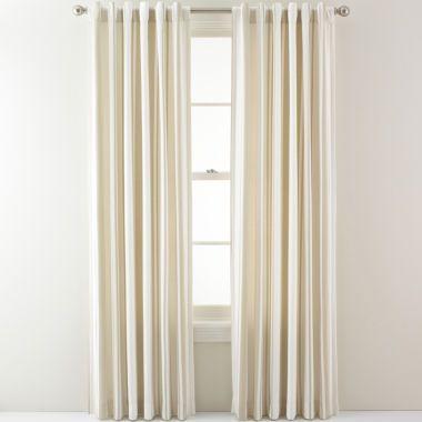 Royal Velvet 174 Arden Stripe Back Tab Curtain Panel Found At