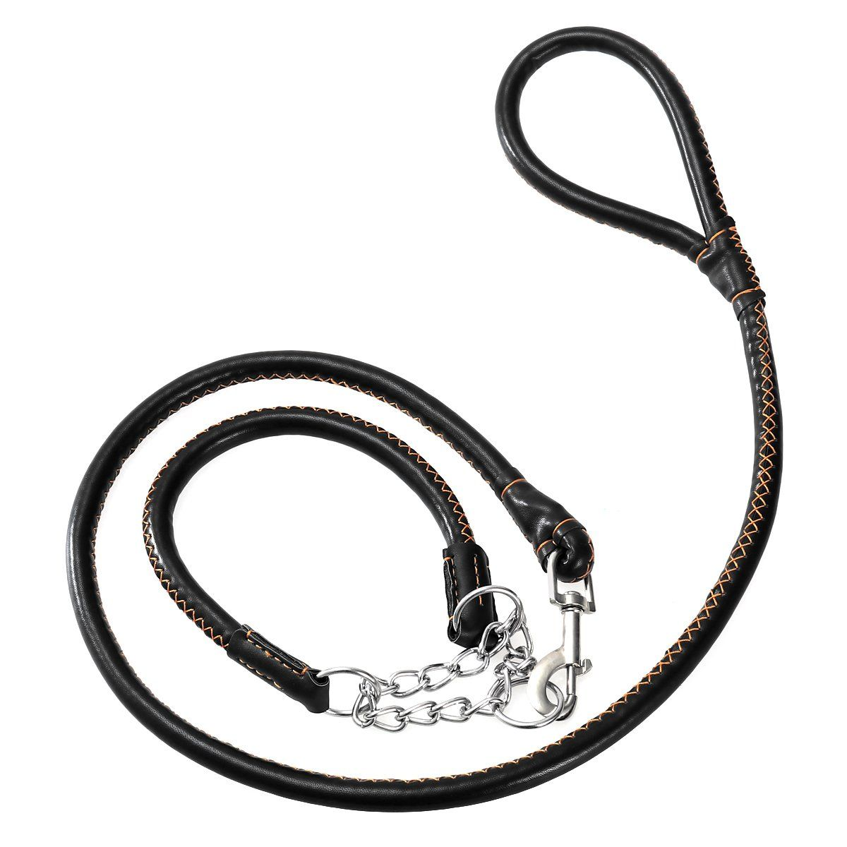 Ueetek Dog Slip Collar Choke Leash With Dog Collar Harness