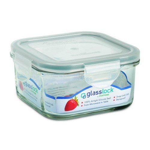 Glass Food Storage Containers With Locking Lids Kinetic Glass Lock 17 Ounce Square Glass Food Storage Container With