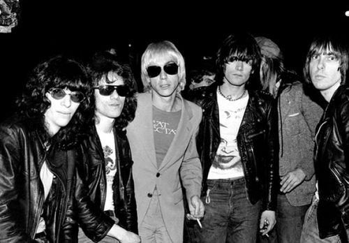 The Ramones with Iggy Pop, CBGB | Iggy pop, Ramones, Joey ramone