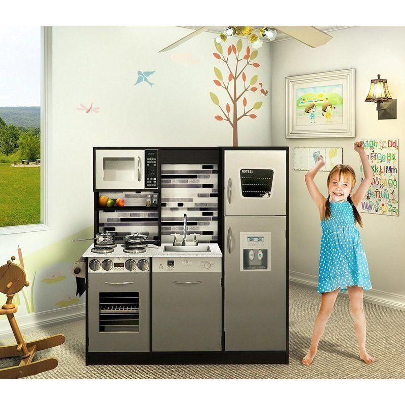 Kid S Wooden Pretend Play Toy Kitchen