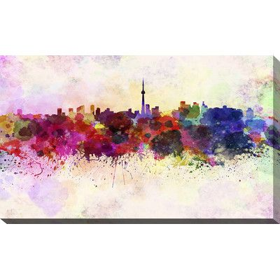 PicturePerfectInternational Toronto Graphic Art on Wrapped Canvas Size: