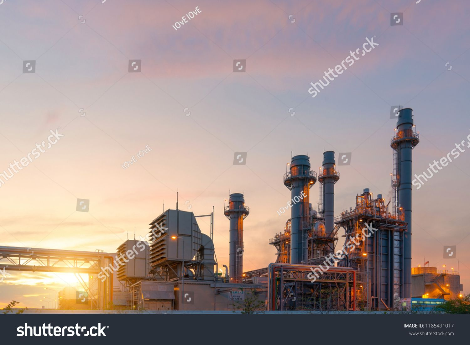 Industry Gas Turbine Electrical Power Plant Sponsored