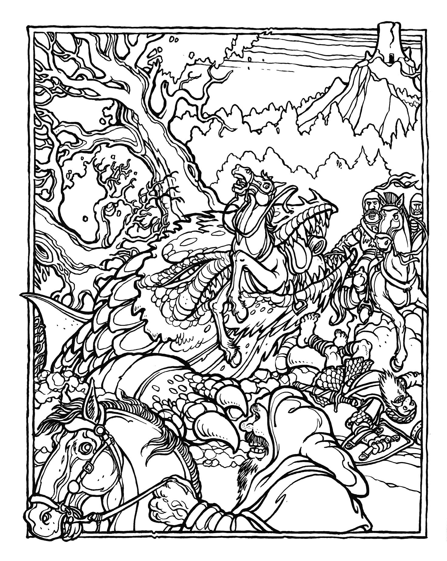 Printable coloring pages dragons - The Official Advanced Dungeons And Dragons Coloring Album 1979