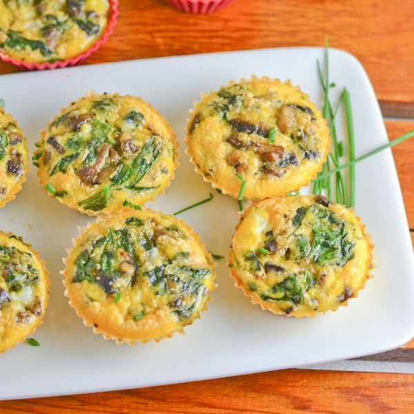 Bacon, Mushrooms and Spinach Muffins Recipe   Yummly