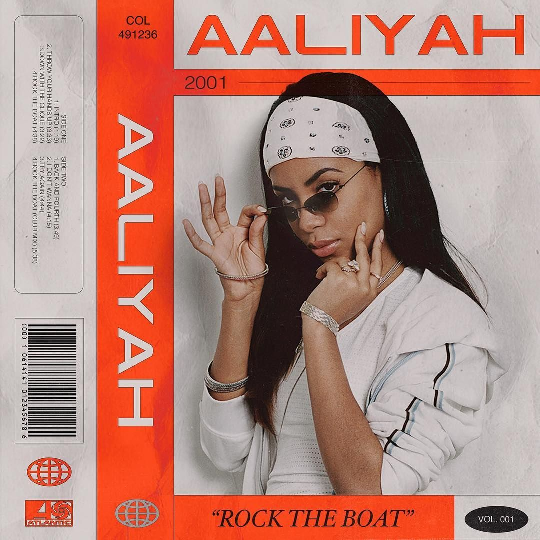 AALIYAH • Rock the boat — Casette Design by @jason_vaz ...
