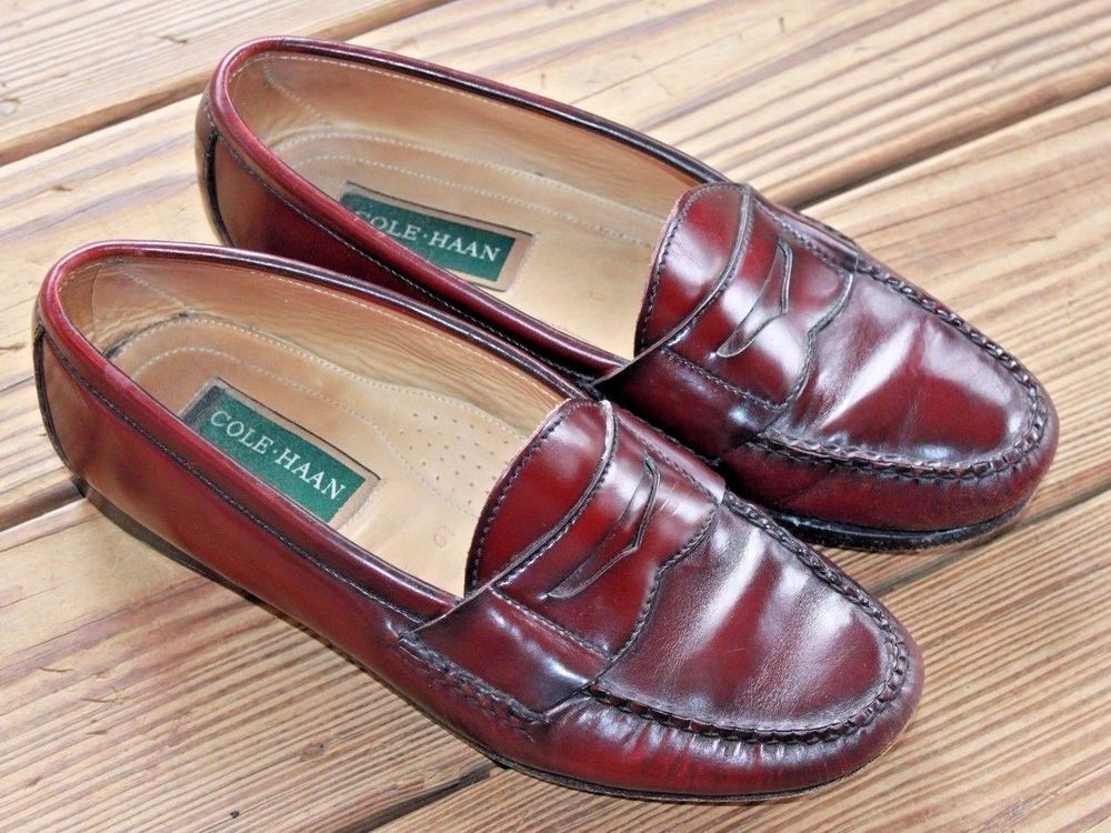 Cordovan Leather Pinch Penny Loafers
