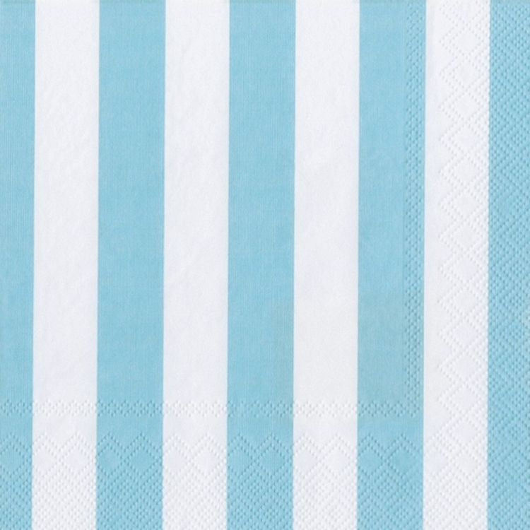 Pack of 20 Blue /& White Striped Paper Napkins