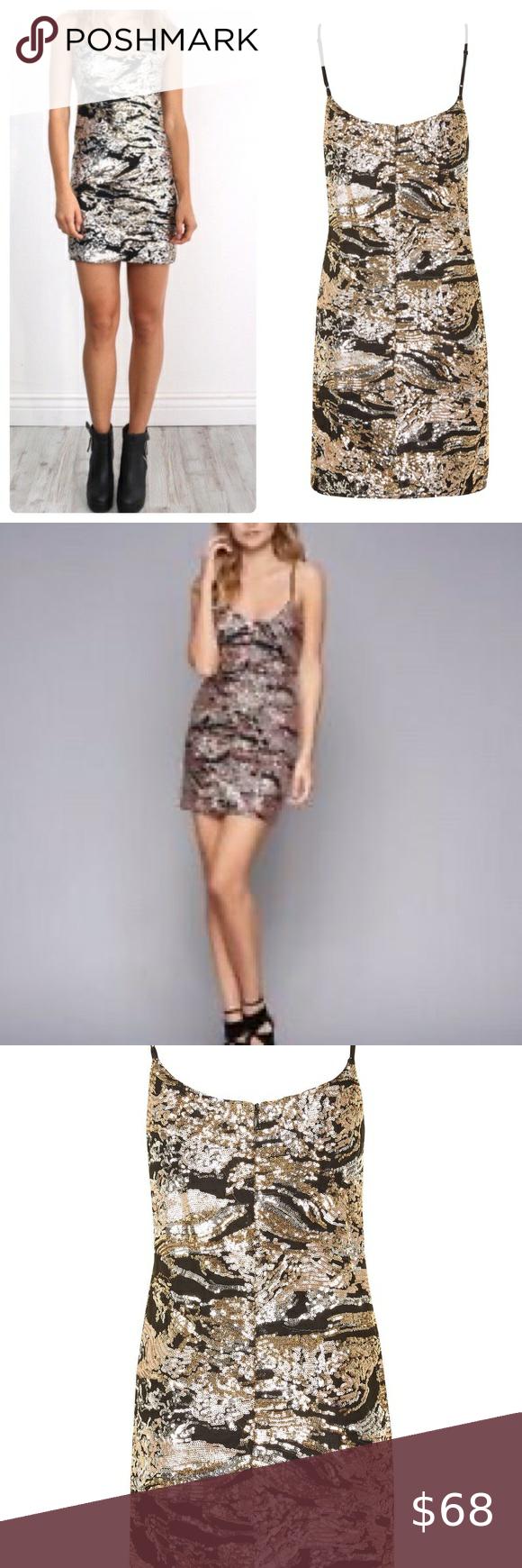 Wyldr Pixie Rose Gold Sequin Mini Dress Topshop In 2020 Top Shop Dress Black Sequin Mini Dress Sequin Mini Dress