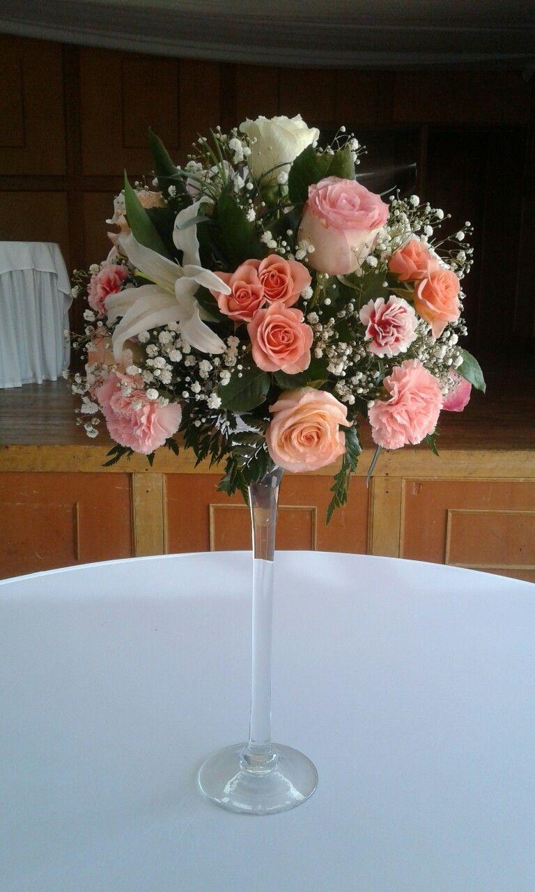Centro de mesa en copa decoracin Pinterest Copa Centros de