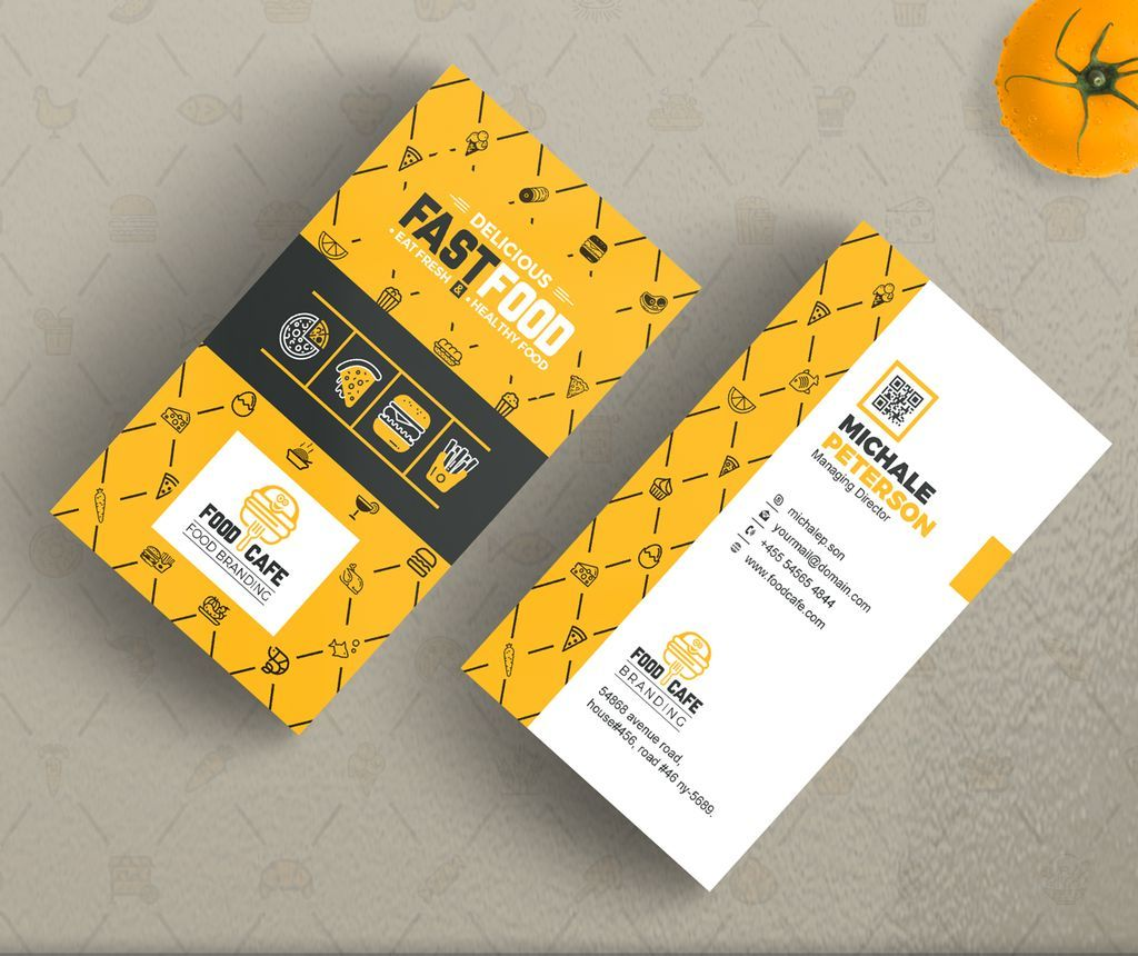 Business Card For Fast Food Company Business Card Print Custom Business Card Digital Print File Company Business Cards Printing Business Cards Company Meals