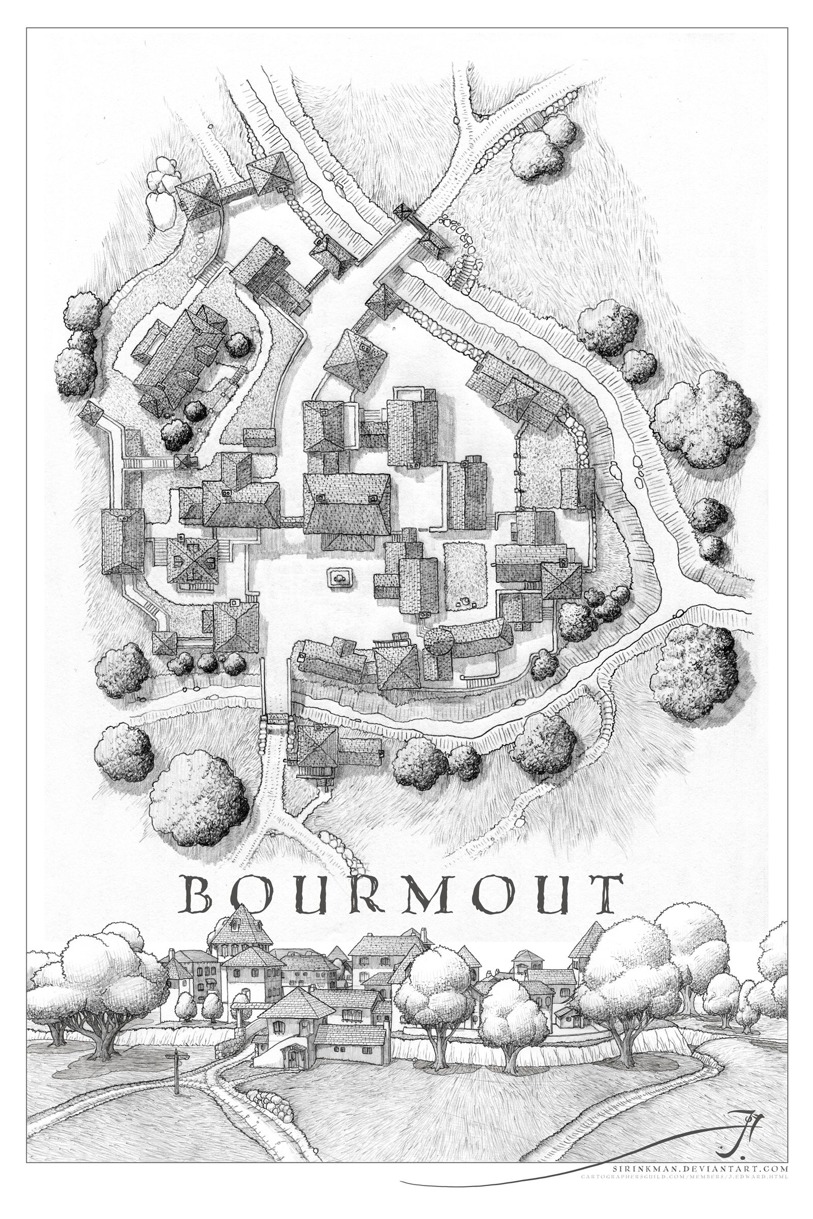Bourmout Uncolored With Perspective By SirInkmandeviantartcom - World map uncolored