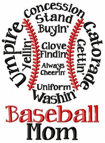 Baseball mom embroidery design   Pinterest   Machine embroidery ...