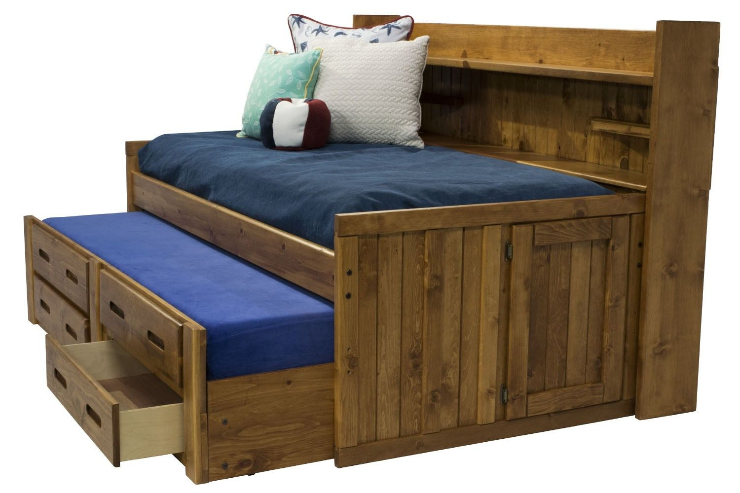 Young Pioneer Twin Sideways Bed With Storage Trundle Beds Kids