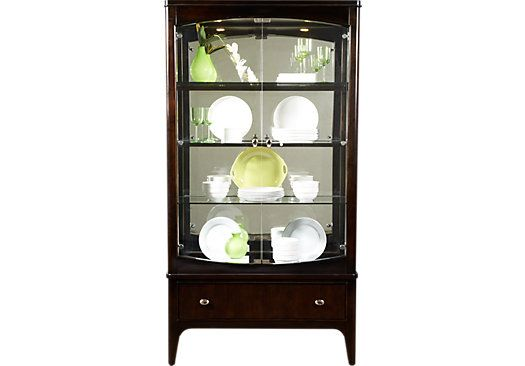 Shop For A Metropolitan Place Curio At Rooms To Go Find China Cabinets That Will Look Great In Your Home And Complement The Re China Cabinet Rooms To Go Curio