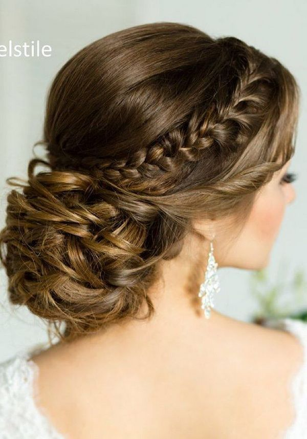 75 Chic Wedding Hair Updos for Elegant Brides | Chongos, Half updo ...