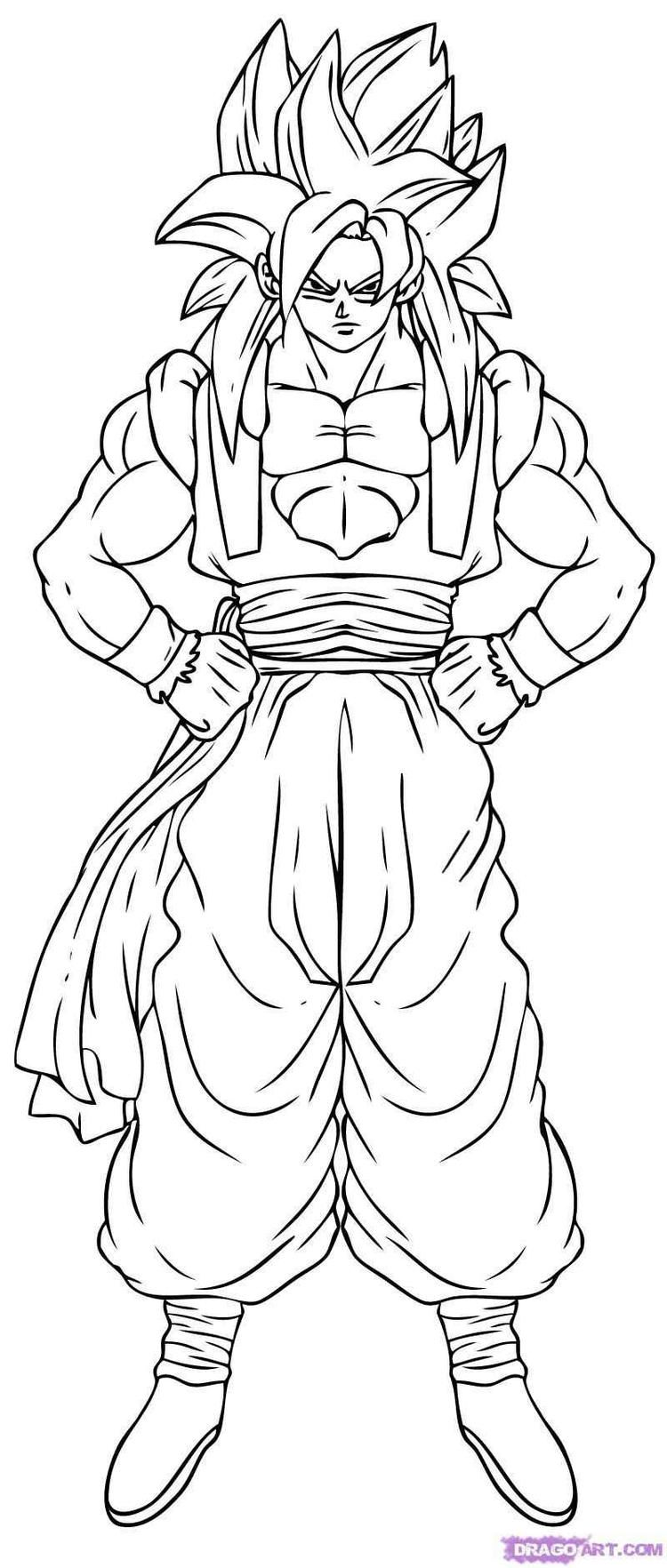 Dragon Ball Z Coloring Pages Goku Super Saiyan 4 Dragon Coloring Page Super Coloring Pages Cartoon Coloring Pages