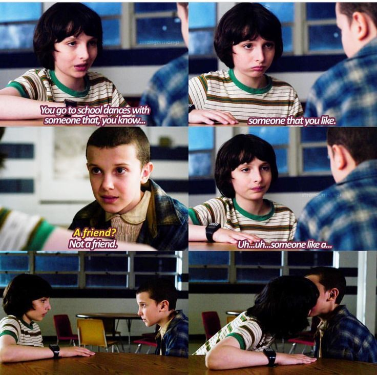 Resultado de imagem para mike and eleven kiss season 2