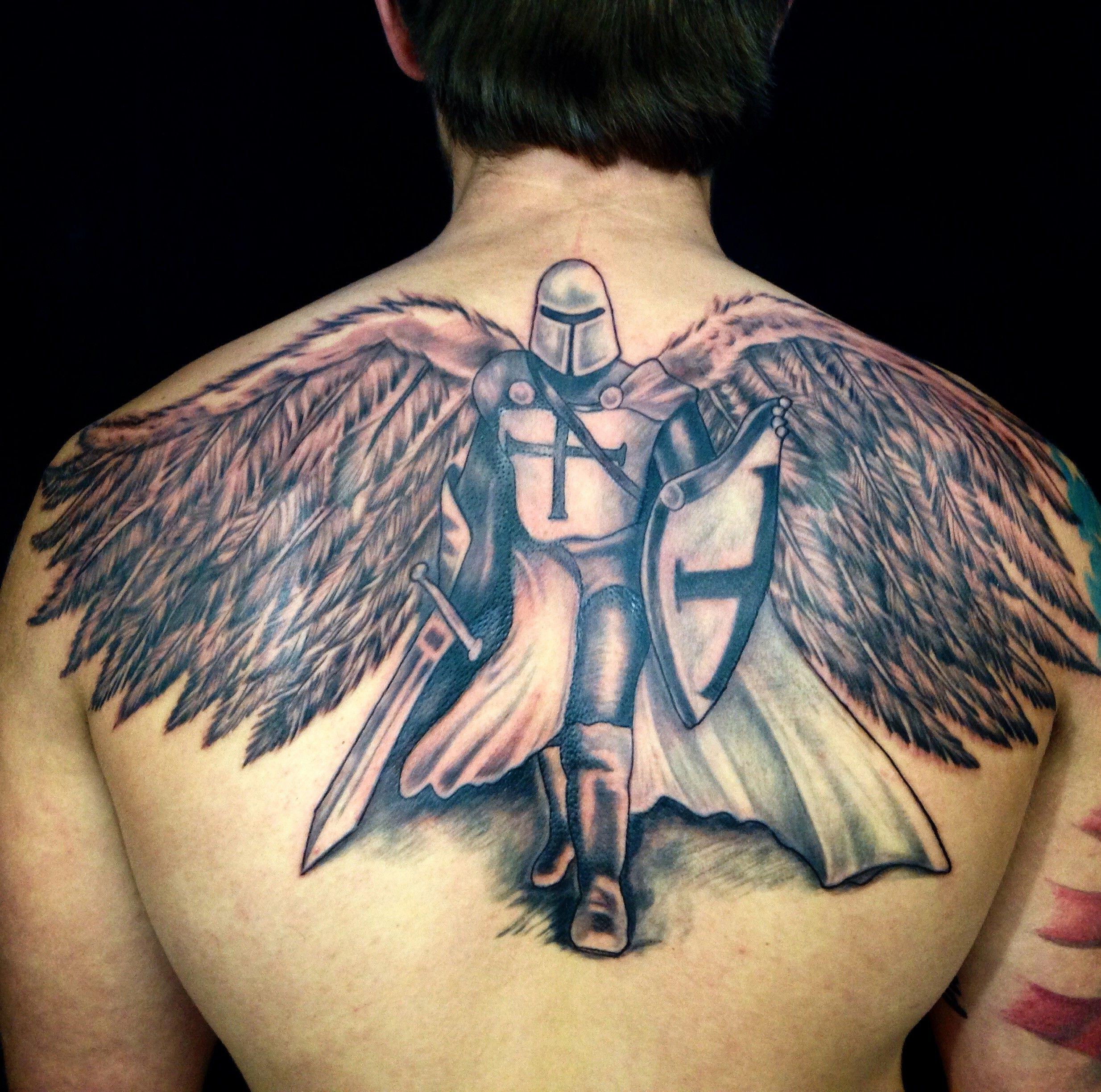Guardian arch angel tattoo by diane lange at moonlight tattoo seaville nj