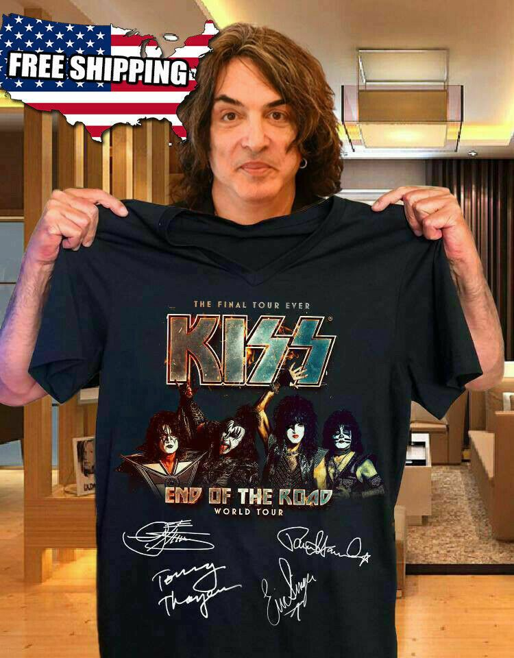 Official KISS Band Hoodie End of the Road Farewell Tour 2019 Gift for Men//Women
