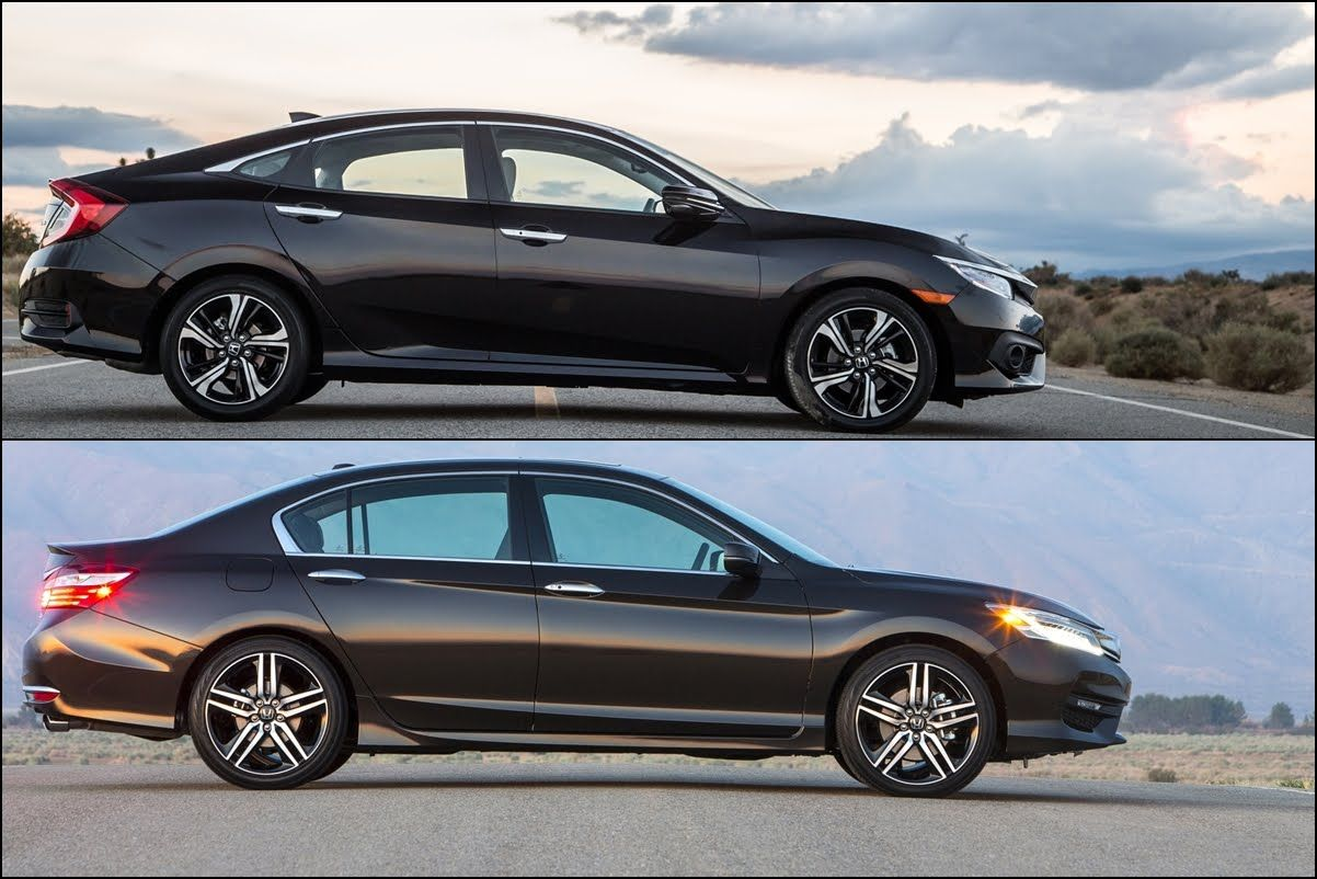 2016 Honda Civic Sedan vs 2016 Honda Accord