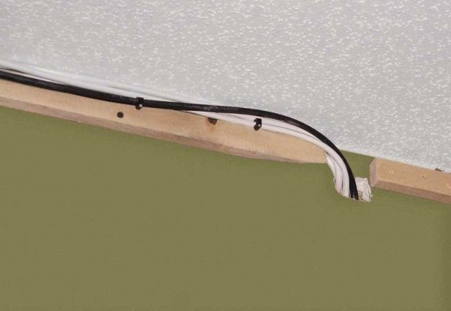 Running wires behind crown moulding Electrical Upgrade Pinterest