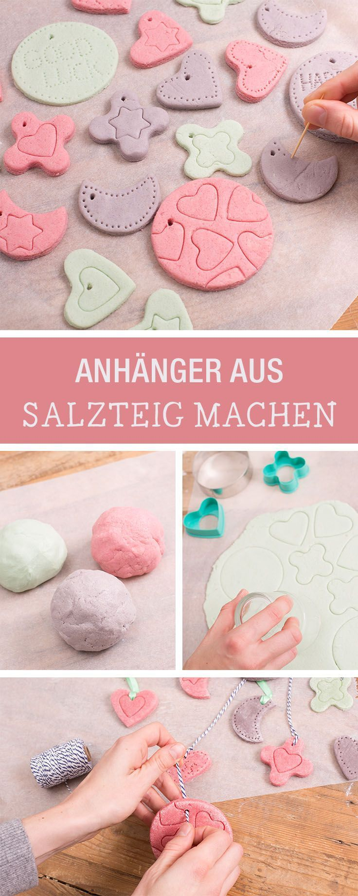 Make colorful pendants from salt dough yourself#colorful #dough #pendants #salt
