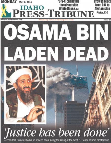 *OSAMA BIN LADEN DEAD ~ Idaho Press-Tribune