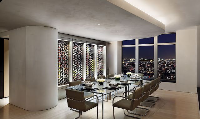 Modern central park west penthouse duplex in manhattan new york by