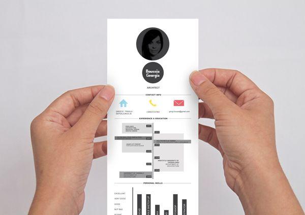 CV RESUME by Giorgi Bou, via Behance design Pinterest