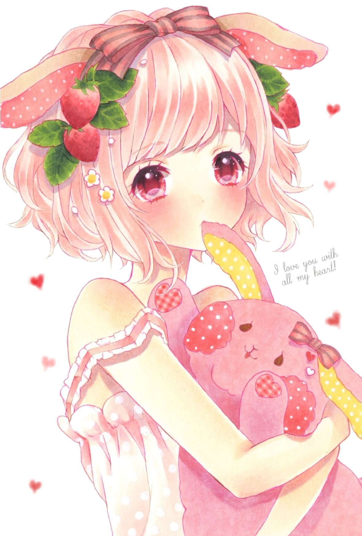 This is kiana, the is 8 years old she like strawberry's