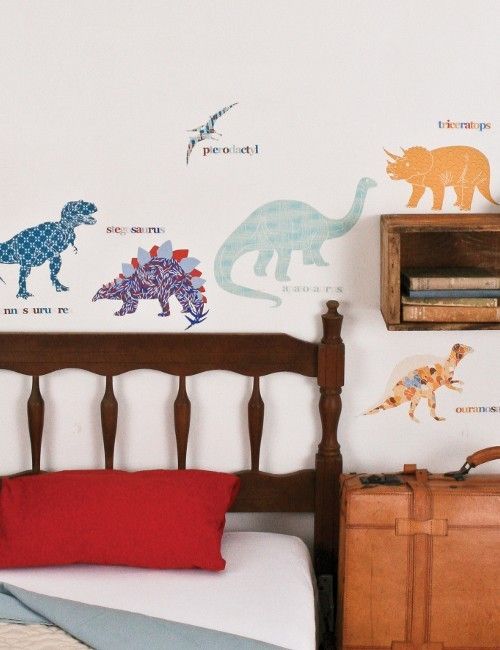 ウォールステッカー シール Dinosaurs Fabric Wallsticker at Rose & Grey, Wallstickers