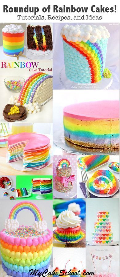 A Roundup of Rainbow Cake Tutorials! - Cake Decorating Ideas, Tutorials, and Inspiration -