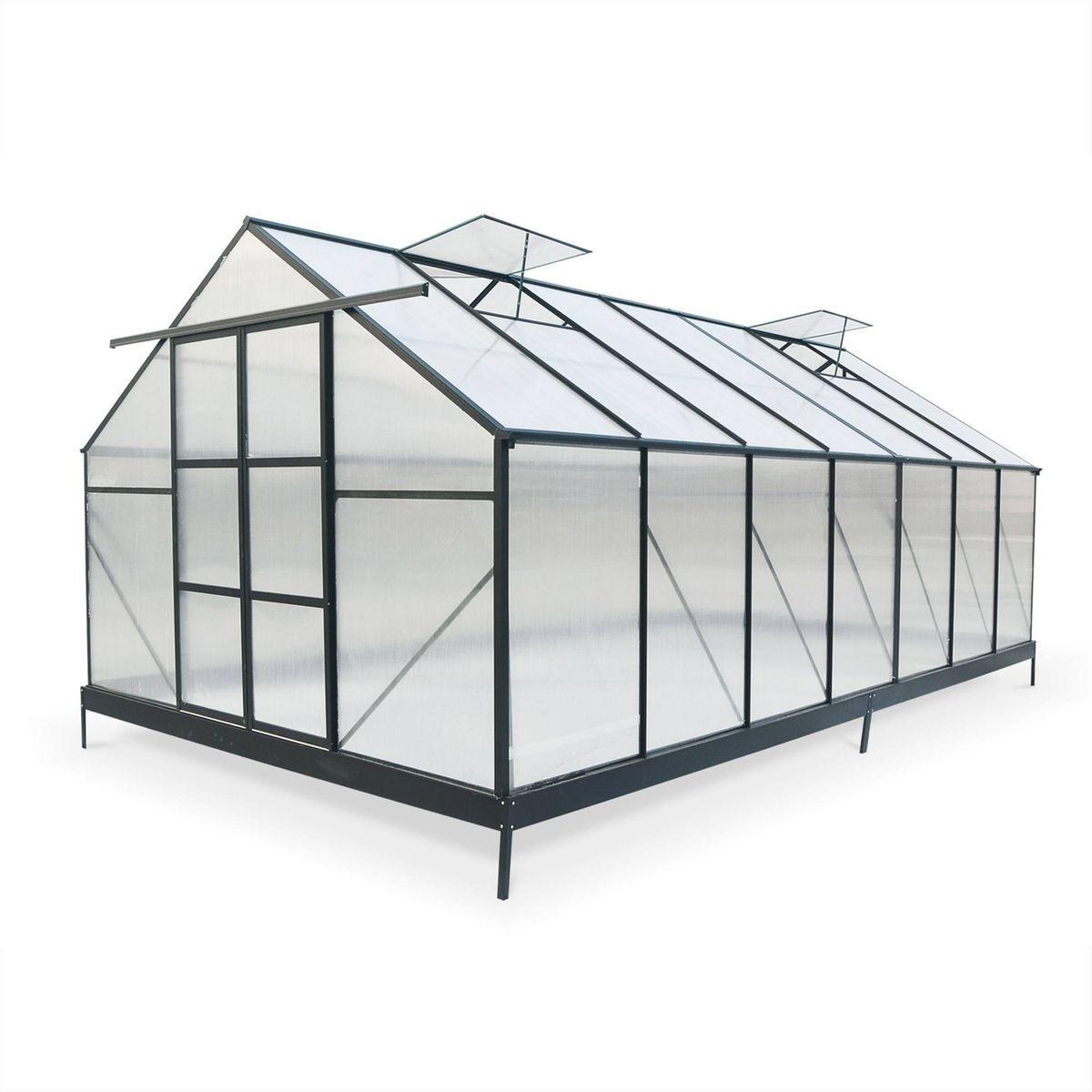 Grande serre de jardin PEUPLIER premium noire en ...