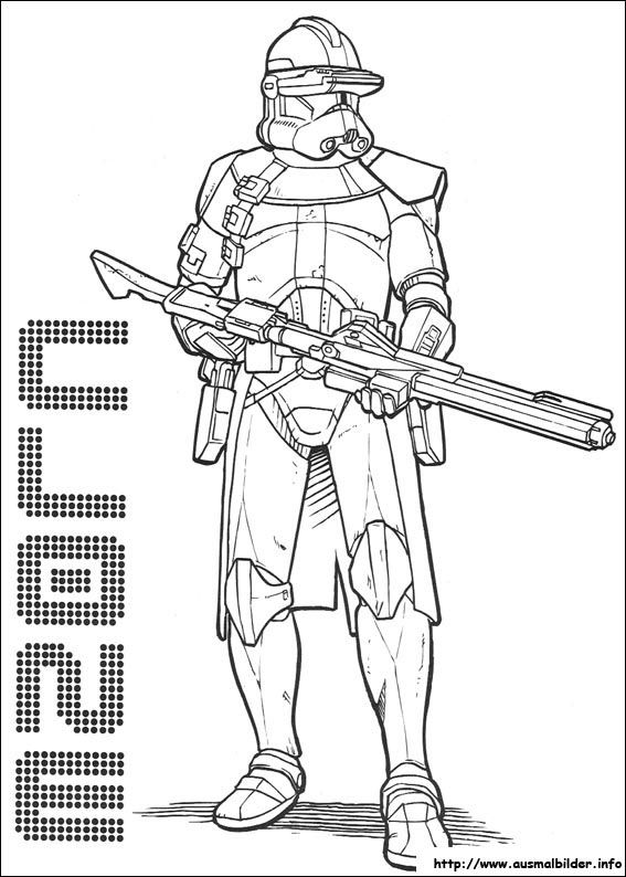 ausmalbilder star wars the clone wars | Coloring pages | Pinterest