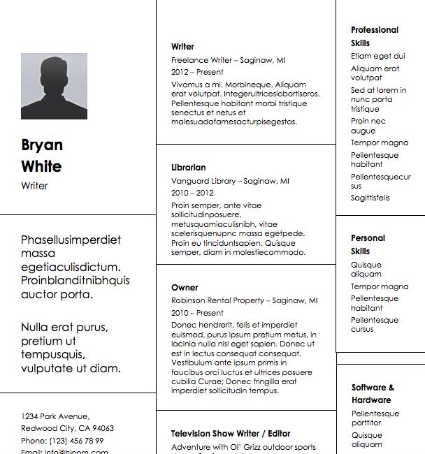 Free Resume Download Bricks  Microsoft Word Format  Resumes