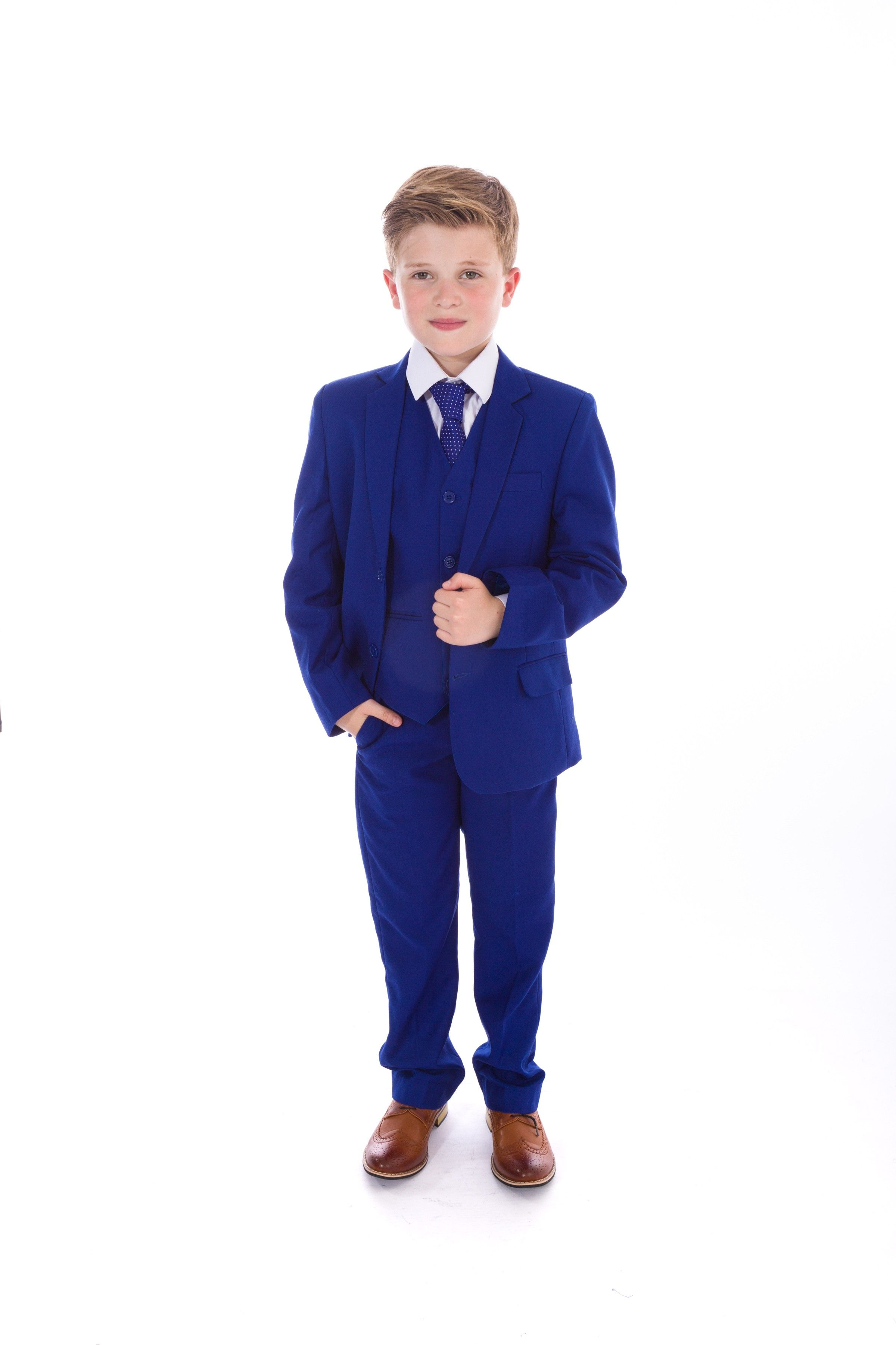 158187725a0ec Boys 5 Piece Blue Suit Eric - Slim Fit Suits - Boys Suits - Boys ...