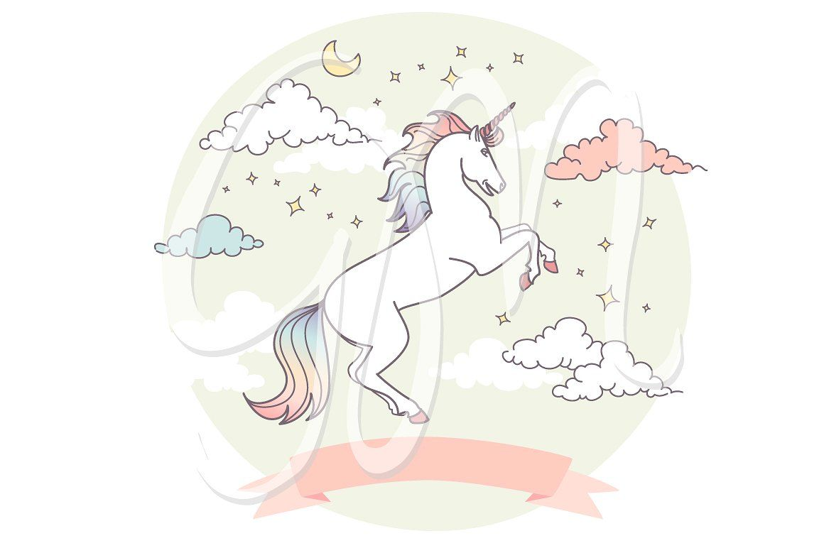 Unicorn Clip Art & backgrounds Unicorns clipart, Art