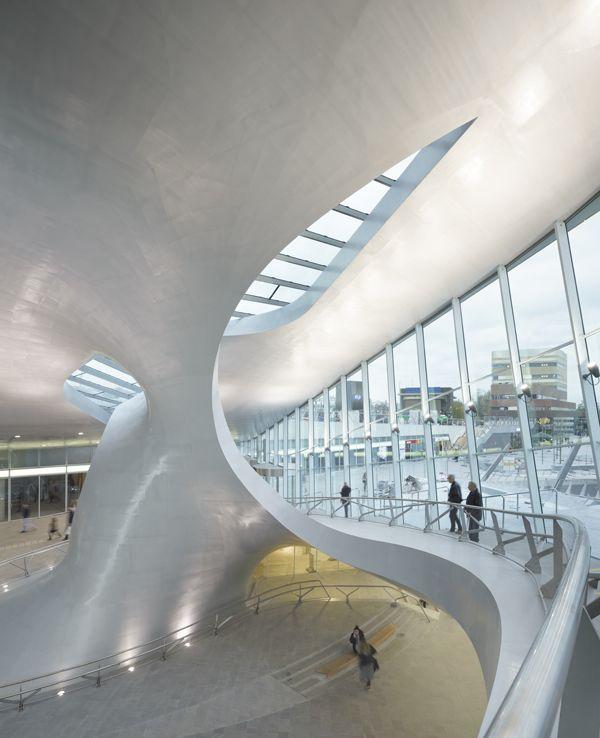 Transfer Terminal Arnhem Central Station Arch Building Organic Architecture Arnhem