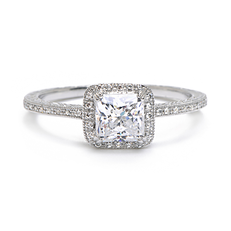 This Brilliantly Sparkling Diamond Engagement Ring