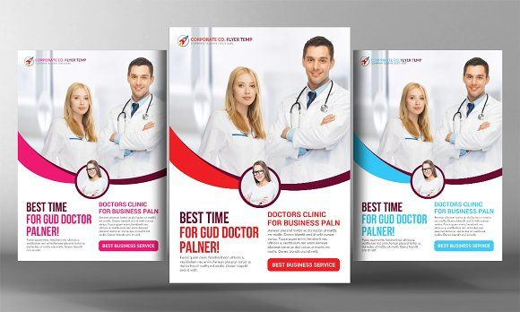 Premium Medical Flyer Template By Business Templates On