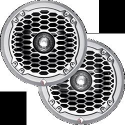 Punch M2 8 Marine Coax Speaker Wht Pair
