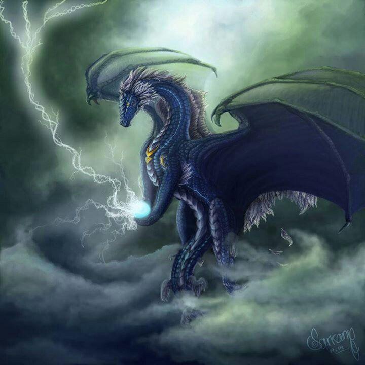 Lightning Dragon -The word dragon entered the English